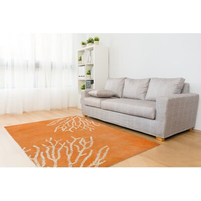 Corena Orange Area Rug Size: Rectangle 5 x 7