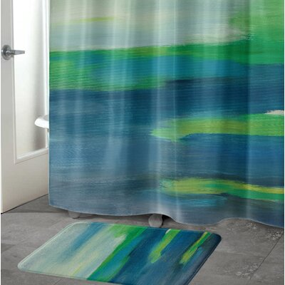 A Beautiful Mess Memory Foam Bath Rug Size: 17 W x 24 L