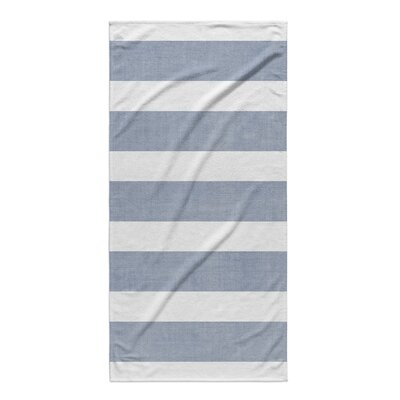Centerville Beach Towel Color: Blue/ White