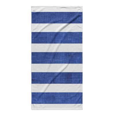 Centerville Beach Towel Color: Dark Blue/ White