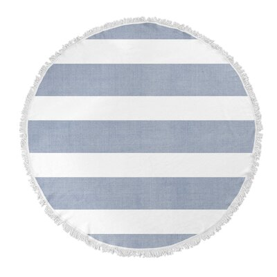 Centerville Round Beach Towel Color: Blue/ White