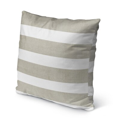 Centerville Burlap Indoor/Outdoor Pillow Size: 18 H x 18 W x 5 D, Color: Tan/ White
