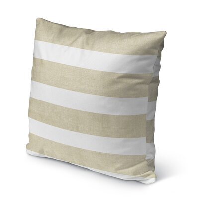 Centerville Burlap Indoor/Outdoor Pillow Size: 16 H x 16 W x 5 D, Color: Gold/ White