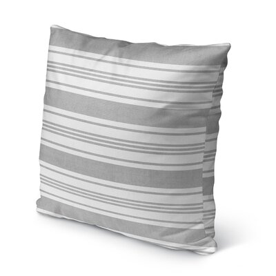 Sagamore Burlap Indoor/Outdoor Pillow Size: 18 H x 18 W x 5 D, Color: Light Grey/ White