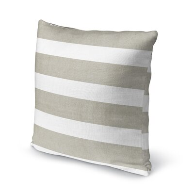 Centerville Accent Pillow Size: 18 H x 18 W x 5 D, Color: Tan/ White
