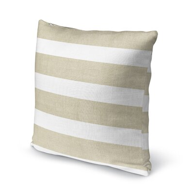 Centerville Accent Pillow Size: 18 H x 18 W x 5 D, Color: Gold/ White