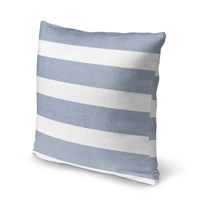 Centerville Accent Pillow Size: 18 H x 18 W x 5 D, Color: Blue/ White