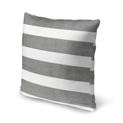 Centerville Accent Pillow Size: 18 H x 18 W x 5 D, Color: Charcoal/ White
