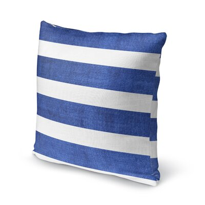 Centerville Accent Pillow Size: 24 H x 24 W x 5 D, Color: Dark Blue/ White