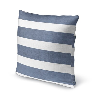 Centerville Accent Pillow Size: 18 H x 18 W x 5 D, Color: Blue/ White/ Grey