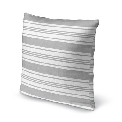 Sagamore Accent Pillow Size: 16 H x 16 W x 5 D, Color: Light Grey/ White