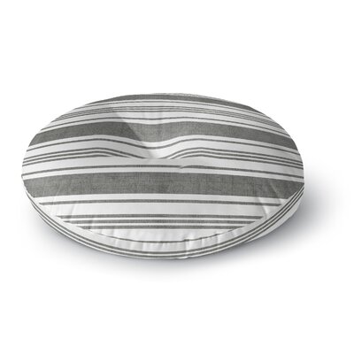 Sagamore Floor Pillow Size: 23 H x 23 W, Color: Dark Grey/ White