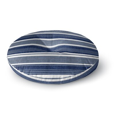 Fiecke Outdoor Throw Pillow Color: Blue/White, Size: 23 x 23