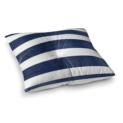 Centerville Floor Pillow Size: 23 H x 23 W, Color: Navy Blue/ White