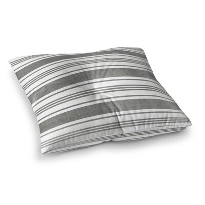 Sagamore Floor Pillow Size: 26 H x 26 W, Color: Dark Grey/ White