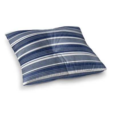 Fiecke Outdoor Throw Pillow Color: Blue/White, Size: 26 x 26