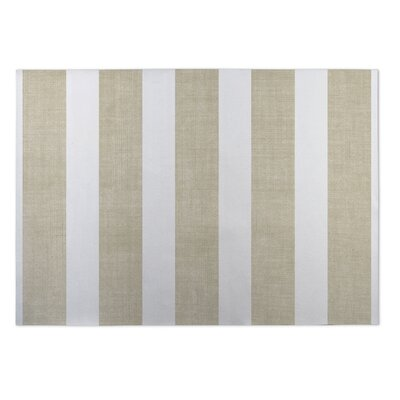 Centerville Doormat Rug Size: 4 x 5, Color: Gold/ White