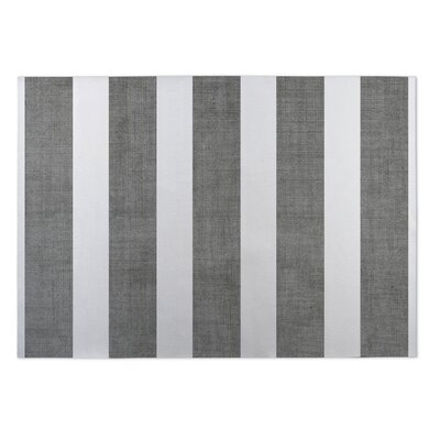Centerville Doormat Mat Size: 4 x 5, Color: Charcoal/ White