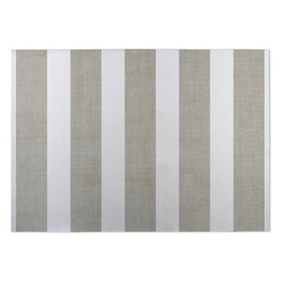 Centerville Doormat Mat Size: Square 8, Color: Tan/ White