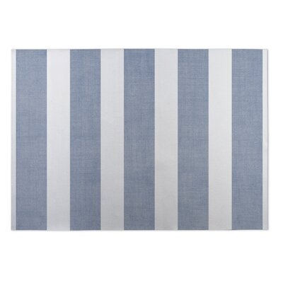 Centerville Doormat Mat Size: Square 8, Color: Blue/ White