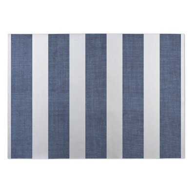 Centerville Doormat Mat Size: 4 x 5, Color: Blue/ White/ Grey