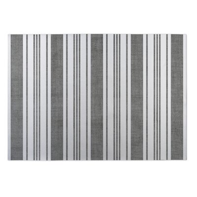 Sagamore Doormat Rug Size: 5 x 7, Color: Dark Grey/ White