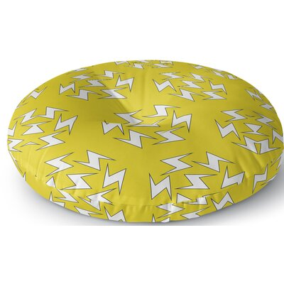 Aleshire Lightning Bolt Outdoor Floor Pillow Size: 23 x 23