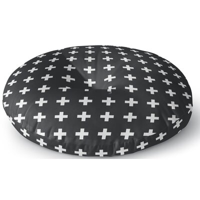 Emerie Cross Outdoor Floor Pillow Size: 23 x 23