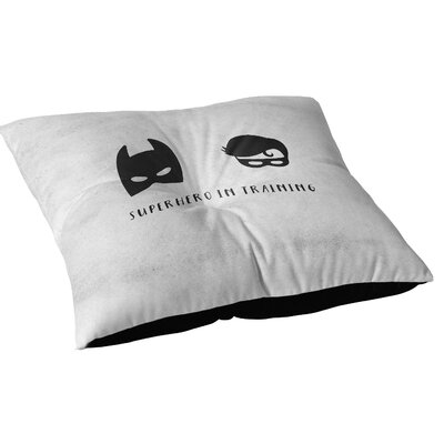 Allenville Superhero In Training For Outdoor Floor Pillow Size: 23 x 23