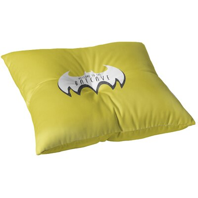 Aletha Welcome To The Bat Cave Outdoor Floor Pillow Size: 23 x 23