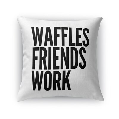 Regency Park Waffles Throw Pillow Size: 16 x 16