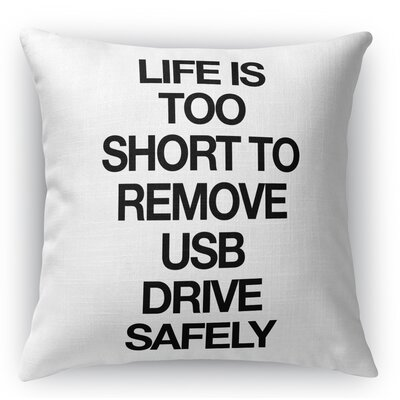 Ronnie Usb Drive Throw Pillow Size: 16 x 16