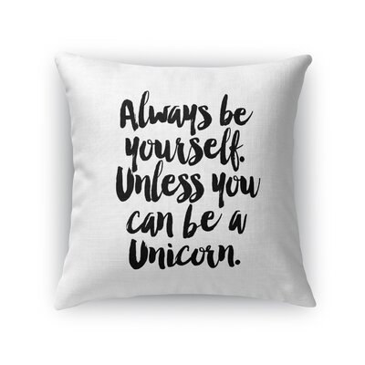 Alkes Unicorn Throw Pillow Size: 16 x 16