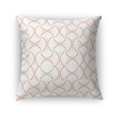 Richelle Tangarine Accent Throw Pillow Size: 18  x 18