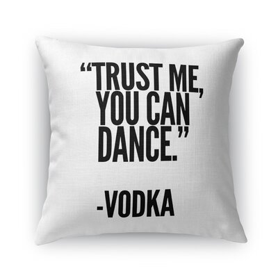 Wiley Vodka Throw Pillow Size: 16  x 16