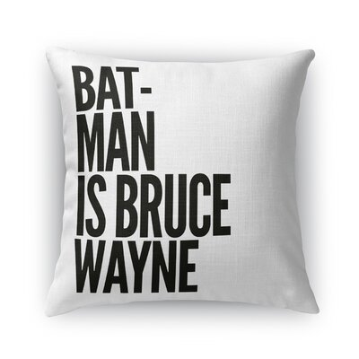 Leandre Batman Throw Pillow Size: 16 x 16