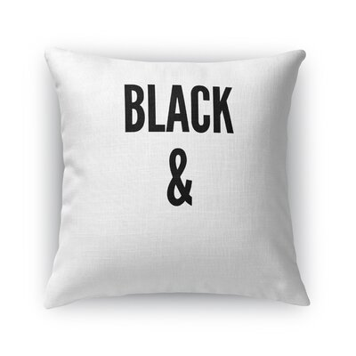 Rosena B and W Throw Pillow Size: 16 x 16