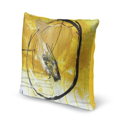 Rosalva Gold Universe Throw Pillow Size: 16 x 16