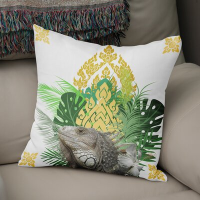 Edson Iguana Throw Pillow Size: 18 x 18