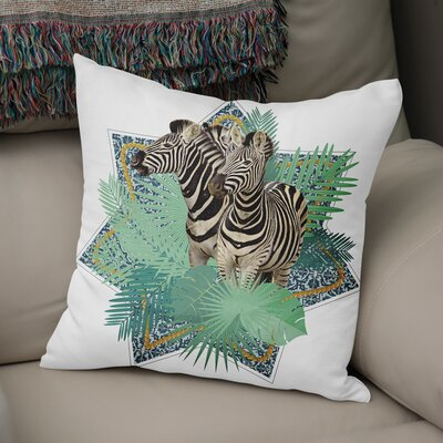 Eduardo Zebra Throw Pillow Size: 18 x 18