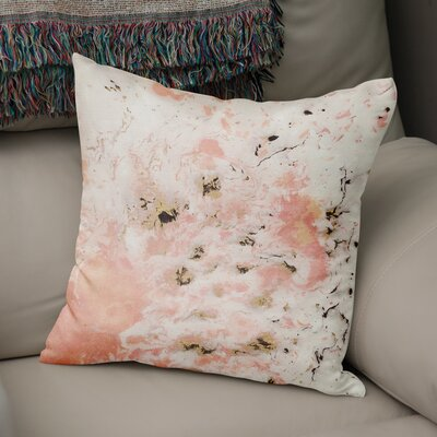 Swaney Throw Pillow Color: Pink, Size: 18 x 18