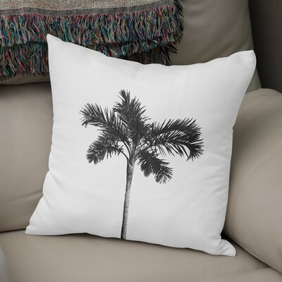 Single Palm Accent Pillow Size: 18