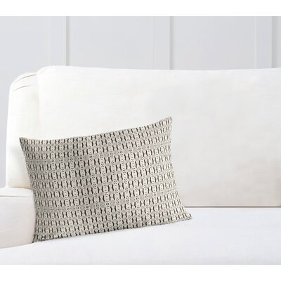 Liang Throw Pillow Color: White/Black, Size: 12 x 16