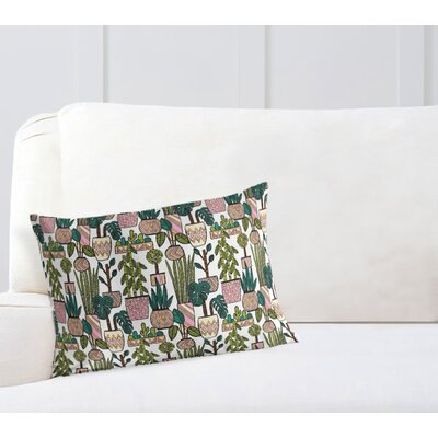 Christen Plant Pattern Throw Pillow Size: 12 x 16