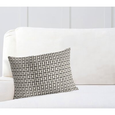 Liao Throw Pillow Color: White/Black, Size: 12 x 16