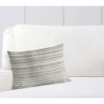Christenson Throw Pillow Color: Tan/Gray, Size: 12 x 16