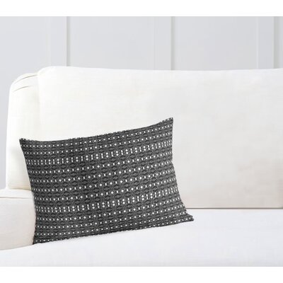 Liberty Hill Throw Pillow Color: White/Black, Size: 12 x 16