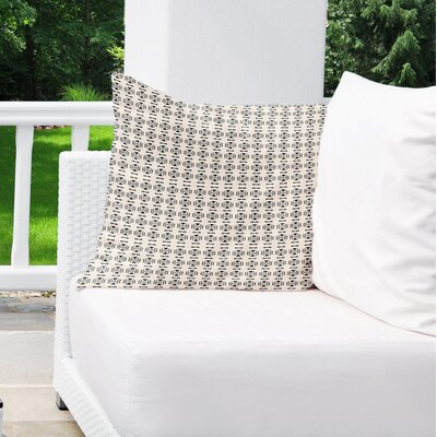 Lexington Avenue Indoor/Outdoor Throw Pillow Color: Black/Tan, Size: 26 H x 26 W