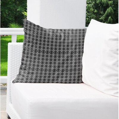 Lexington Avenue Indoor/Outdoor Throw Pillow Color: White/Black, Size: 18 H x 18 W