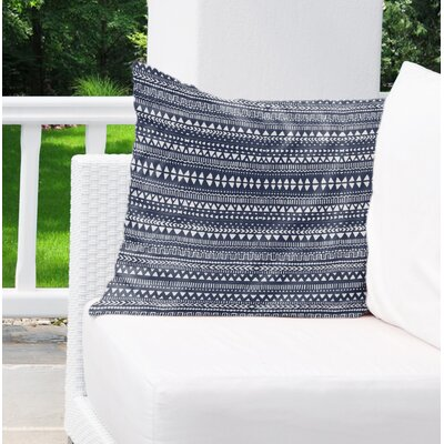 Christenson Indoor/Outdoor Throw Pillow Color: Blue/White, Size: 26 H x 26 W
